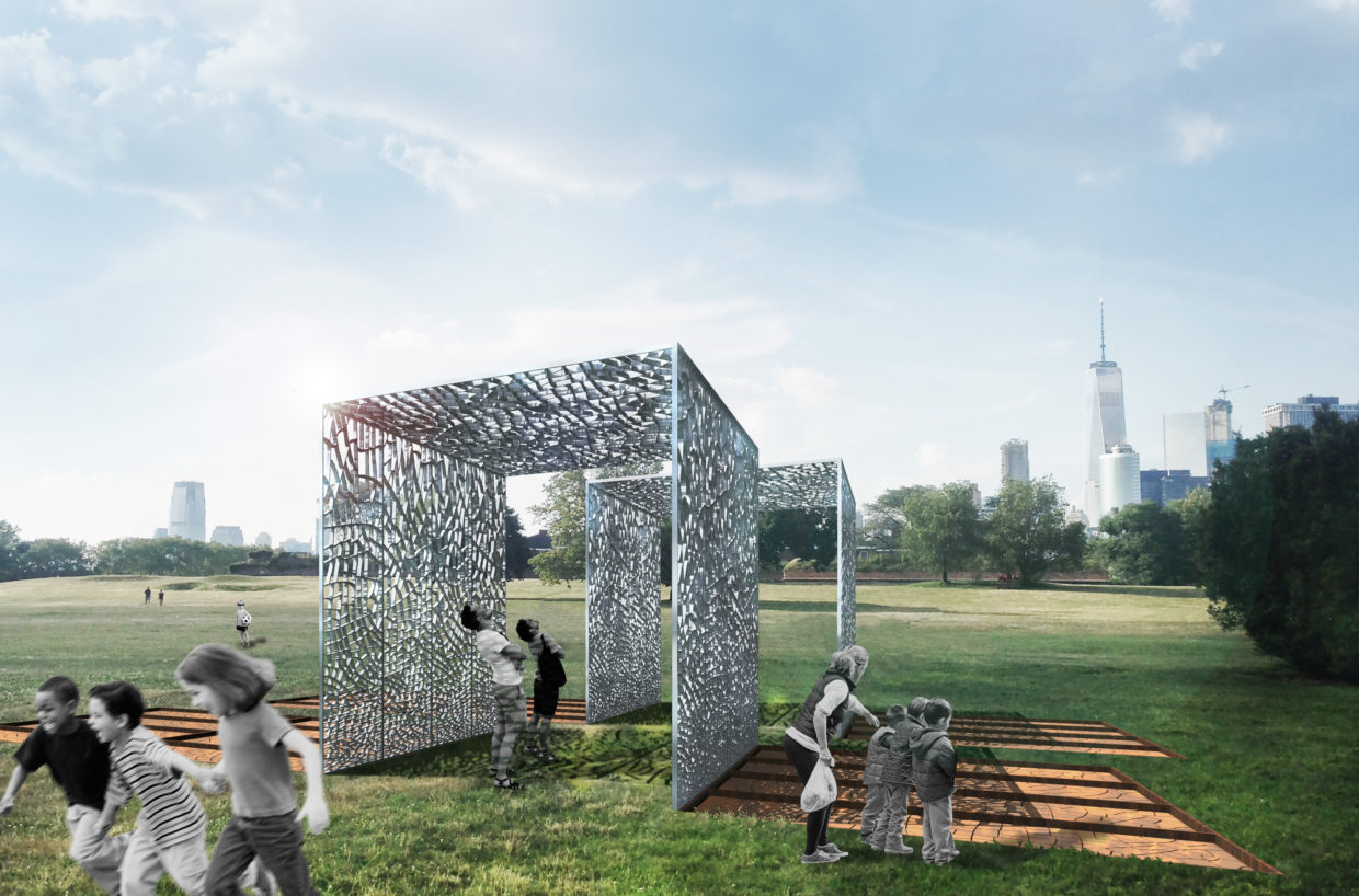 ARCHDAILY: Pavilion Made from Aluminum Cans and Cracked Clay Wins 2017 City of Dreams Competition