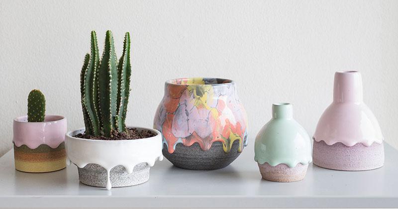 CONTEMPORIST: Brian Giniewski Ceramics Has Created A Collection Of Rainbow Drip Vessels