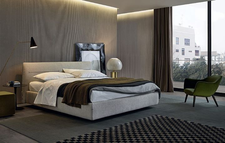 POLIFORM: PRODUCTS Jacqueline bed, by Jean-Marie Massaud: a fabric bed with a very trendy …