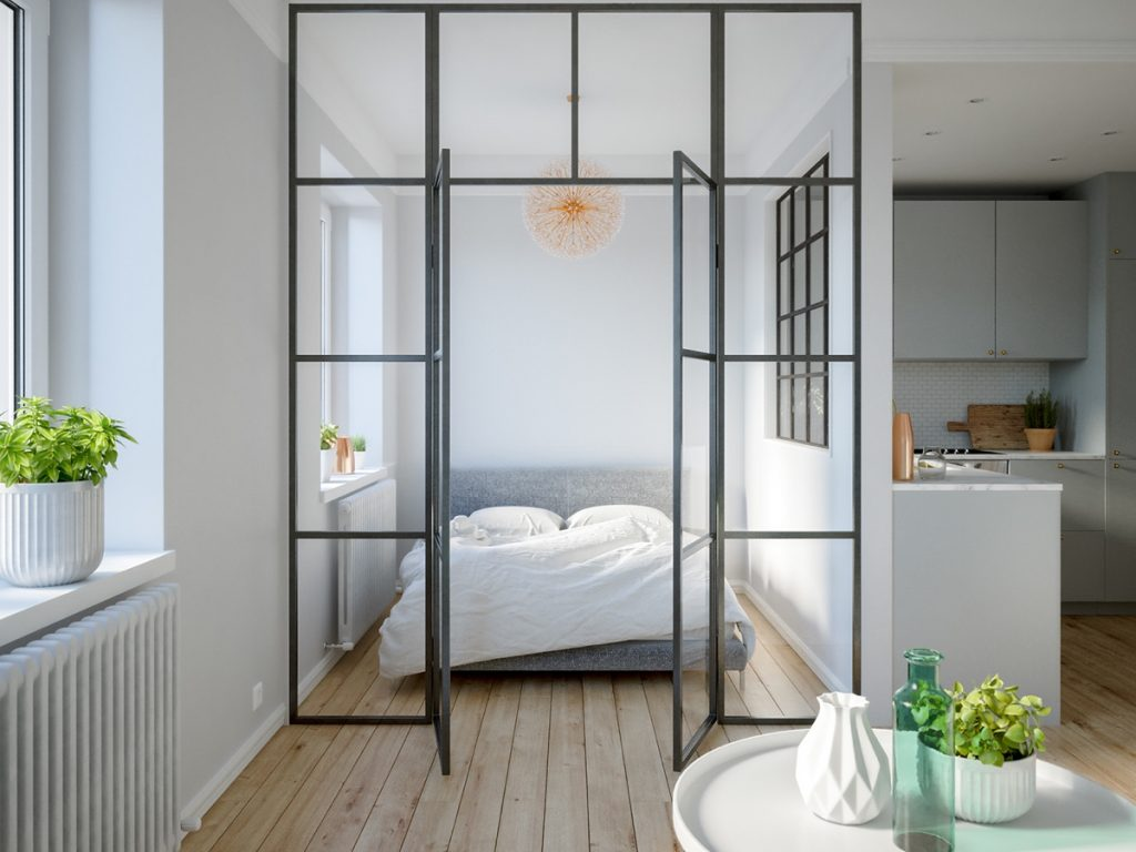 HOME DESIGNING: 3 Modern Studio Apartments With Glass ...