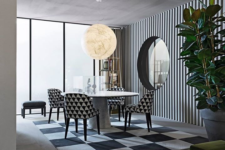 MERIDIANI: Collection 2017 Owen dining table and Odette dining chair