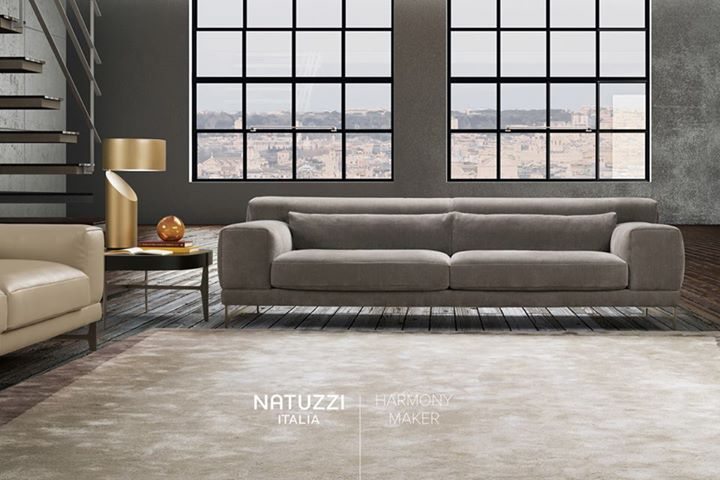 NATUZZI: Characterized by a timeless and contemporary look, Ido sofa, designed by Mauro L…