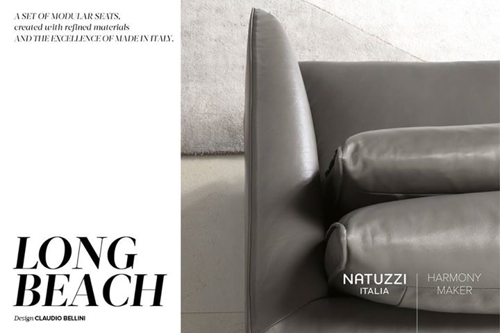 NATUZZI: Characterized by elegant lines, Long Beach presents thin armrests that grant ple…