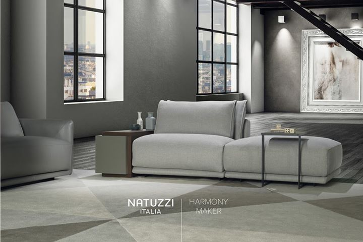 NATUZZI: Designed by Claudio Bellini, Long Beach sofa has elegant and neat lines that wil…