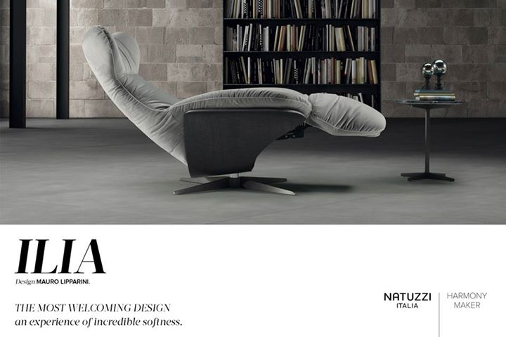 NATUZZI: Designed by Mauro Lipparini, Ilia Armchair features an incredible reclining syst…