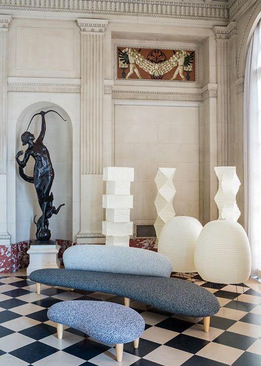 Vitra A Freeform Sofa By Isamu Noguchi Covered In A