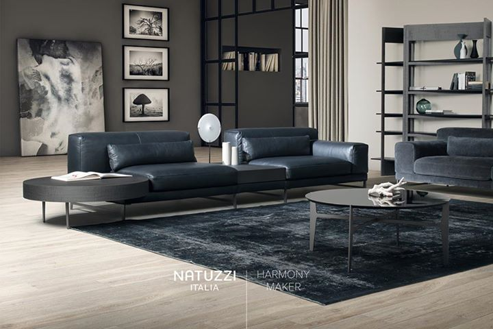 NATUZZI: Like a harmonious combination of modernity and style, Ido sofa by Mauro Lipparin…