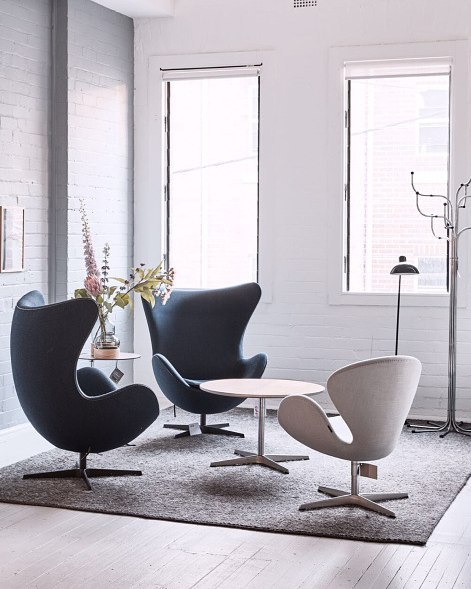 fritz hansen the swan and their friends from fritzhansenobjects contemporary designers. Black Bedroom Furniture Sets. Home Design Ideas
