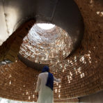 ARCHDAILY: This Architectural Installation Reconnects With the Senses Through Suspended Bricks