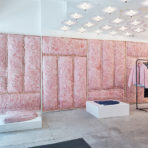 DESIGNBOOM: patrik ervell turns opening ceremony store into a cloud of pink foam