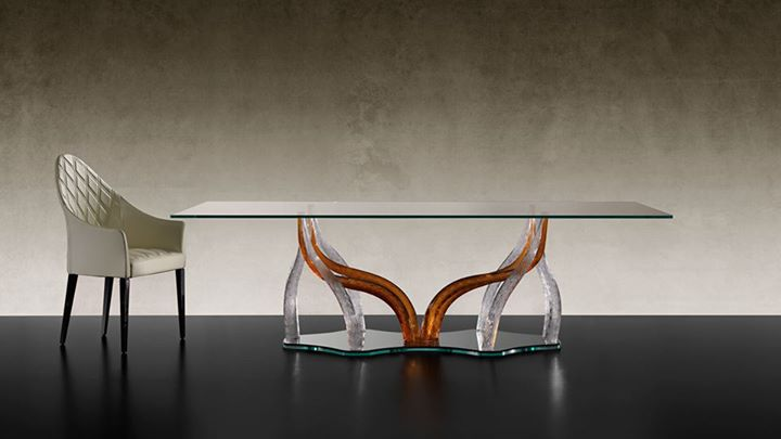 Reflex Angelo Flambe 72 Dining Table With Base In