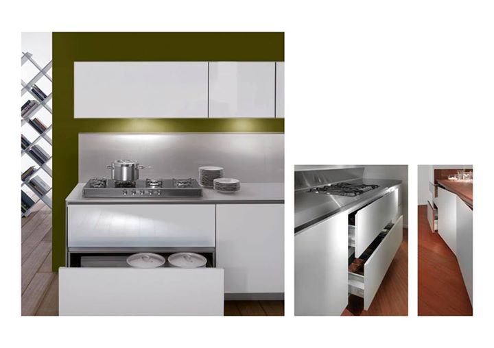 Schiffini Profile System Is A Kitchen Program Whereby The Doors Are Opened By Means Of H