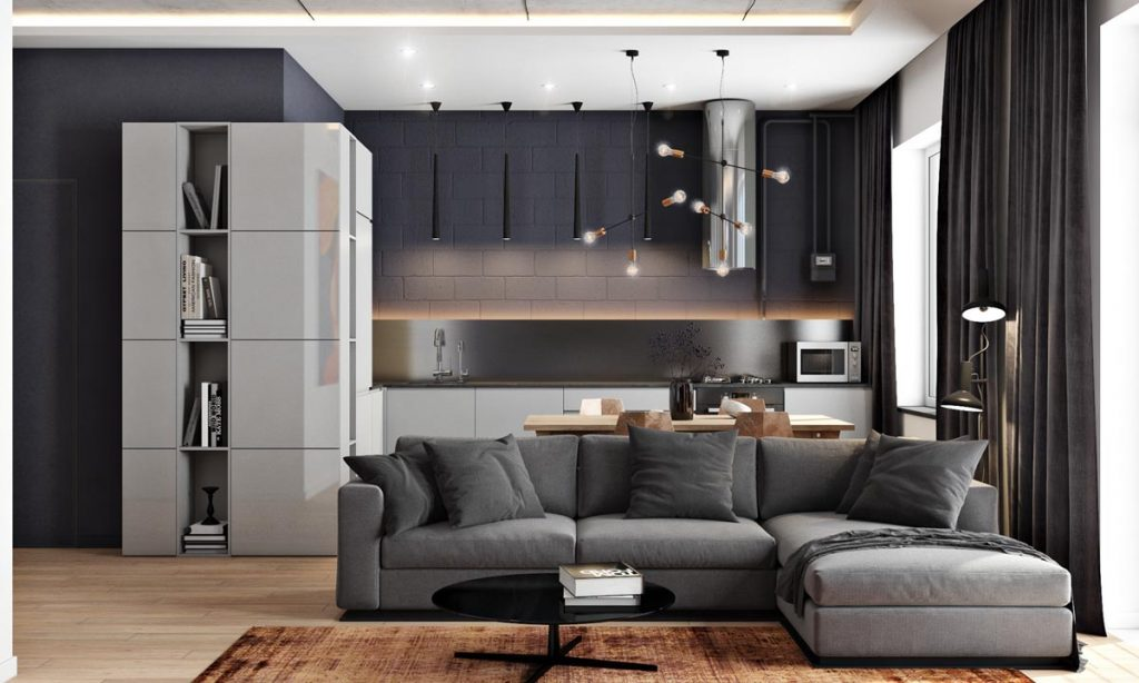 home designing 2 masculine interiors in shades of grey black brown contemporary designers