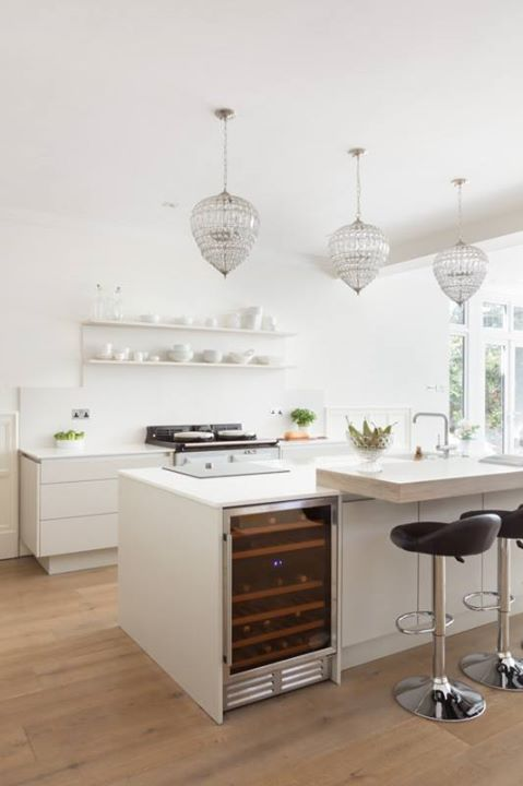 Poggenpohl clean crisp bright a white kitchen is an for Ideal kitchen setup