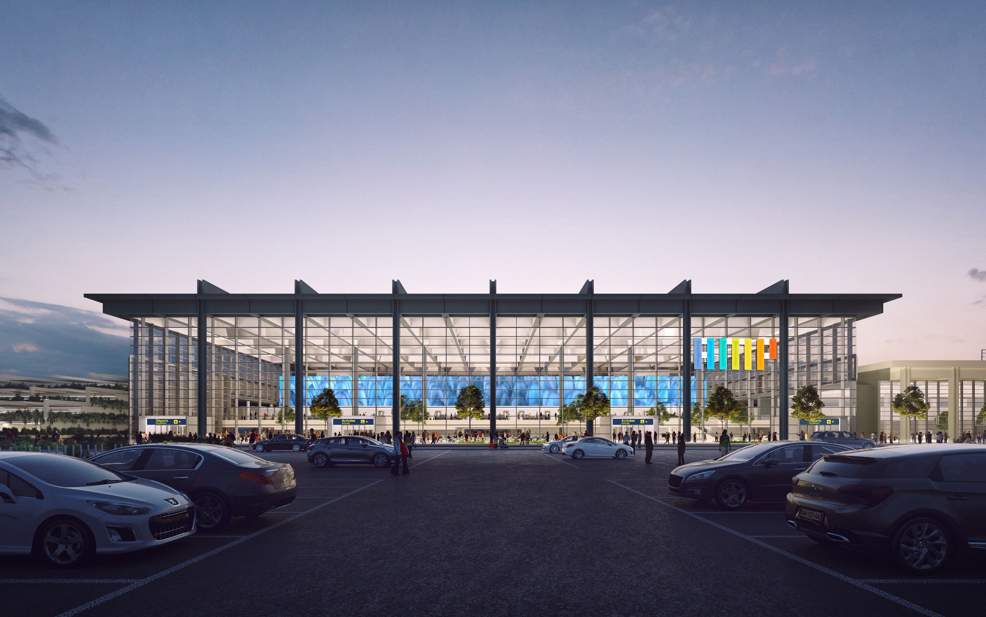 archdaily foster partners selected to design marseille airport extension contemporary. Black Bedroom Furniture Sets. Home Design Ideas