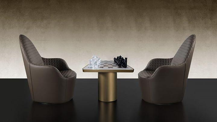 Reflex angelo tau 40 steel scacchi tavolino with cylinder for Giovannetti arredamenti