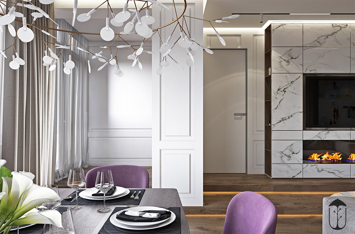 A Table Fit For Intimate Get Togethers Among Friends And Family. A Punchy  Color Choice Of Black And Purple Helps Complete This Cozy Setup, But It  Isnu0027t What ...