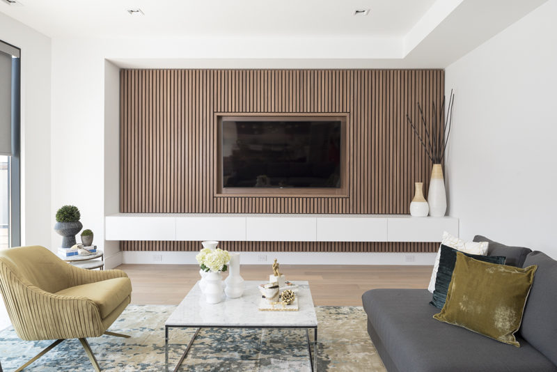 Contemporist Design Detail A Wood Slat Accent Wall