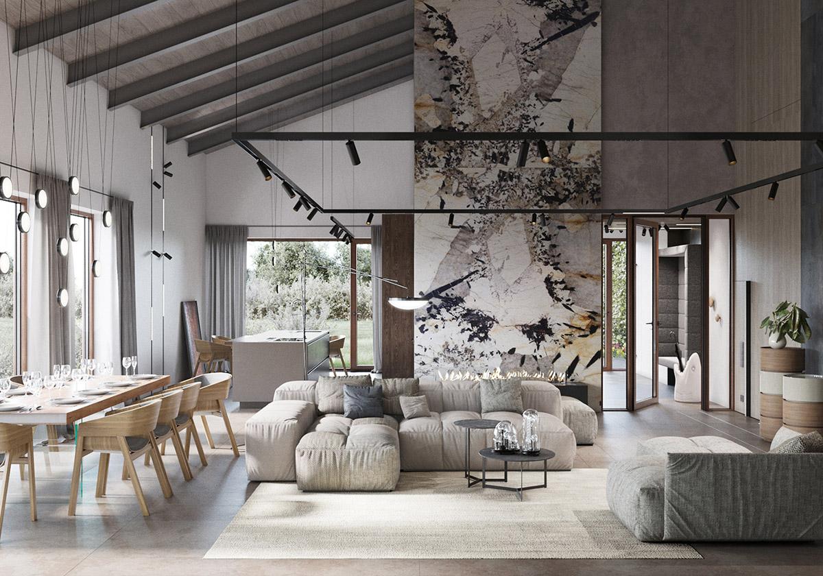 HOME DESIGNING: Modern Rustic Interiors & Contemporary ...