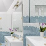 CONTEMPORIST: Add This Blue, White, And Gold Bathroom To Your List Of Design Ideas