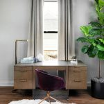 THEODORE ALEXANDER – HIGH END LUXURY FURNITURE: Balanced on two thin brass slab legs, ou …