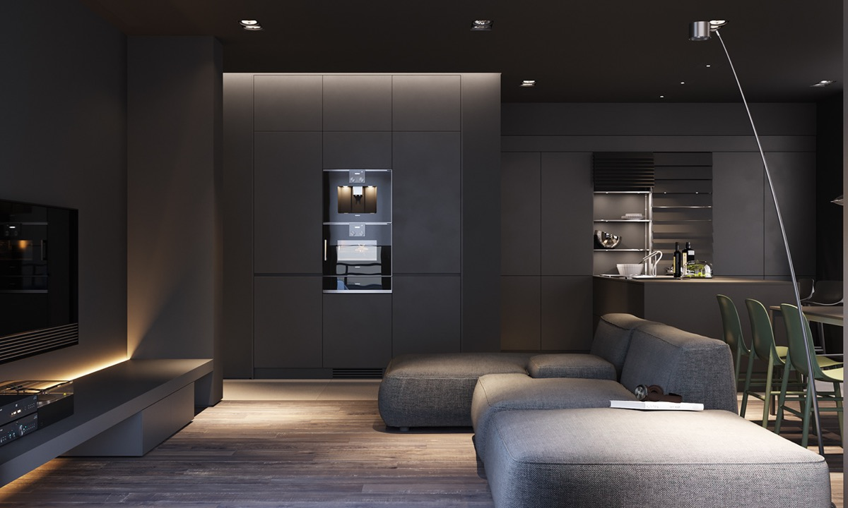 HOME DESIGNING: Dark Grey Modern Decor As An Atmospheric ...