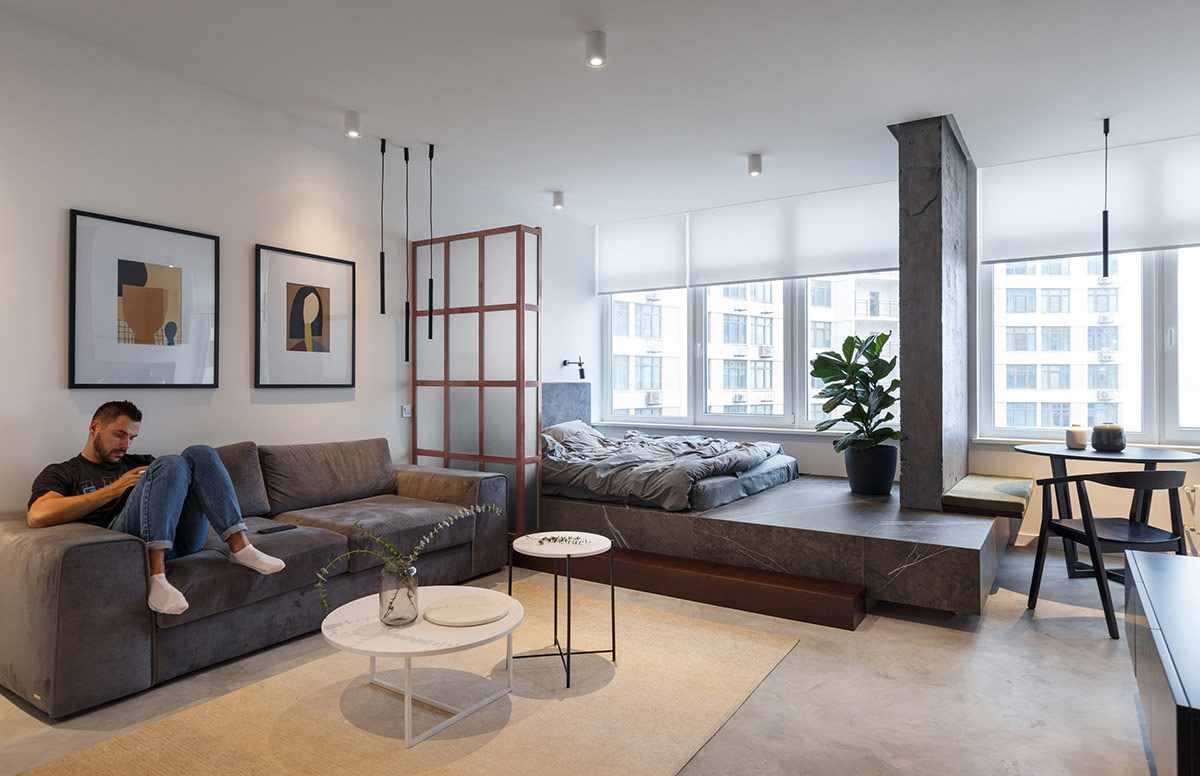 Home Designing Wood And Concrete Works Wonders In 2 Small