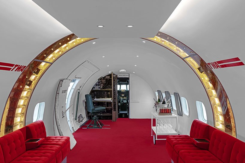 TWA hotel vintage plane