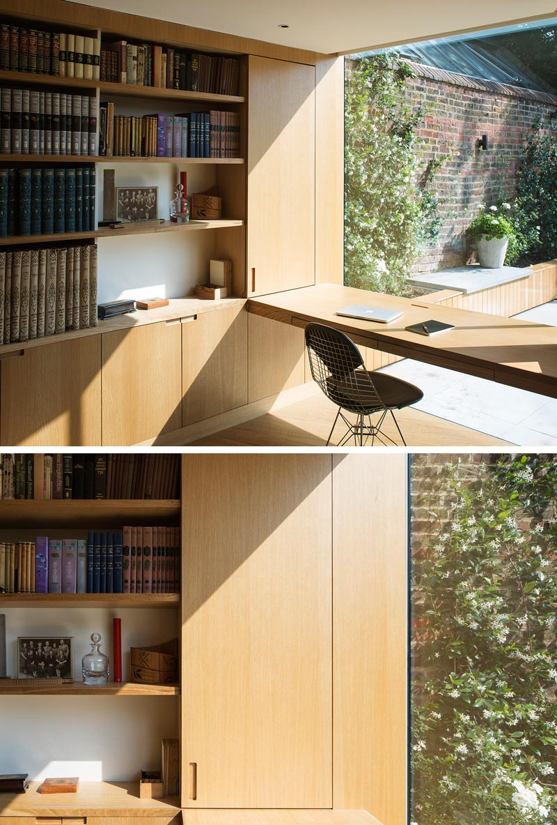 CONTEMPORIST: A Home Office Was Created By Adding A Small