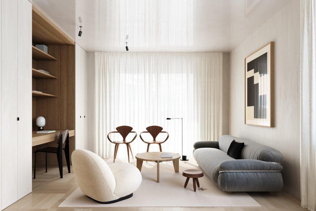 Mid Century Modern Minimalist Home, Home Interiors Furniture