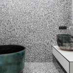 CONTEMPORIST: White And Grey Terrazzo Tile Completely Cover The Walls And Floor Of This Bathroom With Soaking Tub