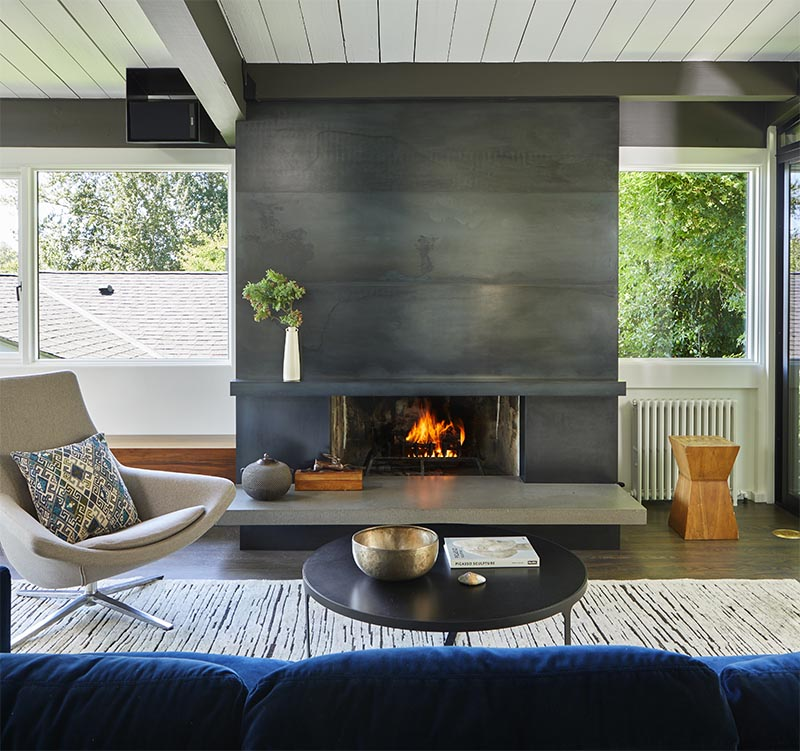 CONTEMPORIST: A Blackened Steel Fireplace Surround With A ...