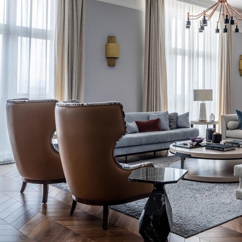 A pair of Soft & Creamy Armchairs, custo...