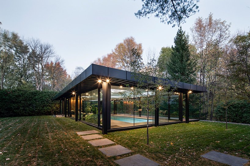 maurice martel's glass pavilion in canada is a tribute to modern architecture