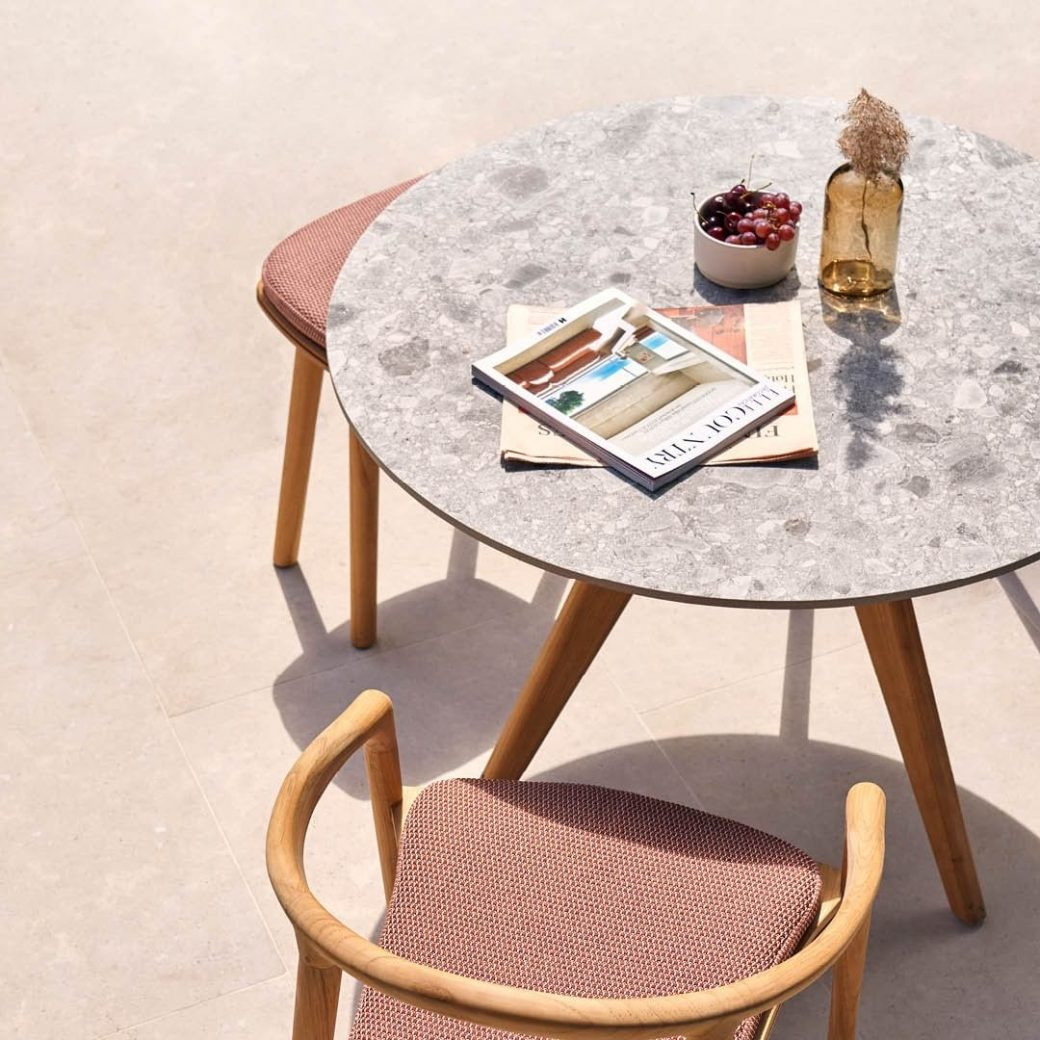 The Torsa table makes ceramic look so gr...
