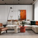 HOME DESIGNING: Adding Heat To Neutral Interiors With Fiery Orange Accents