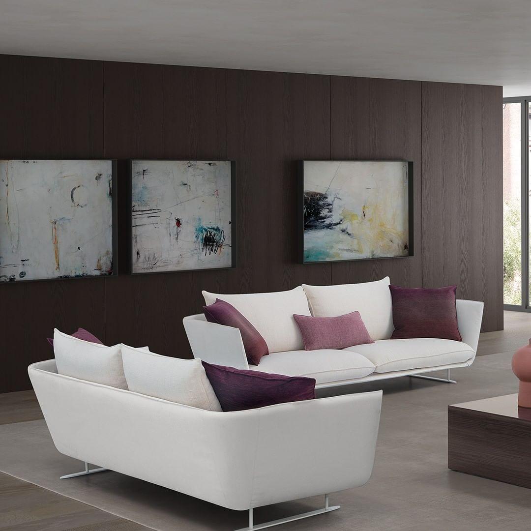 This fashion-led sofa features cushions ...