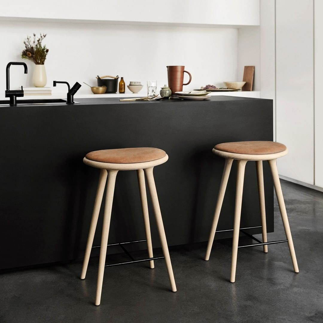 The Mater High Stool is designed by the ...