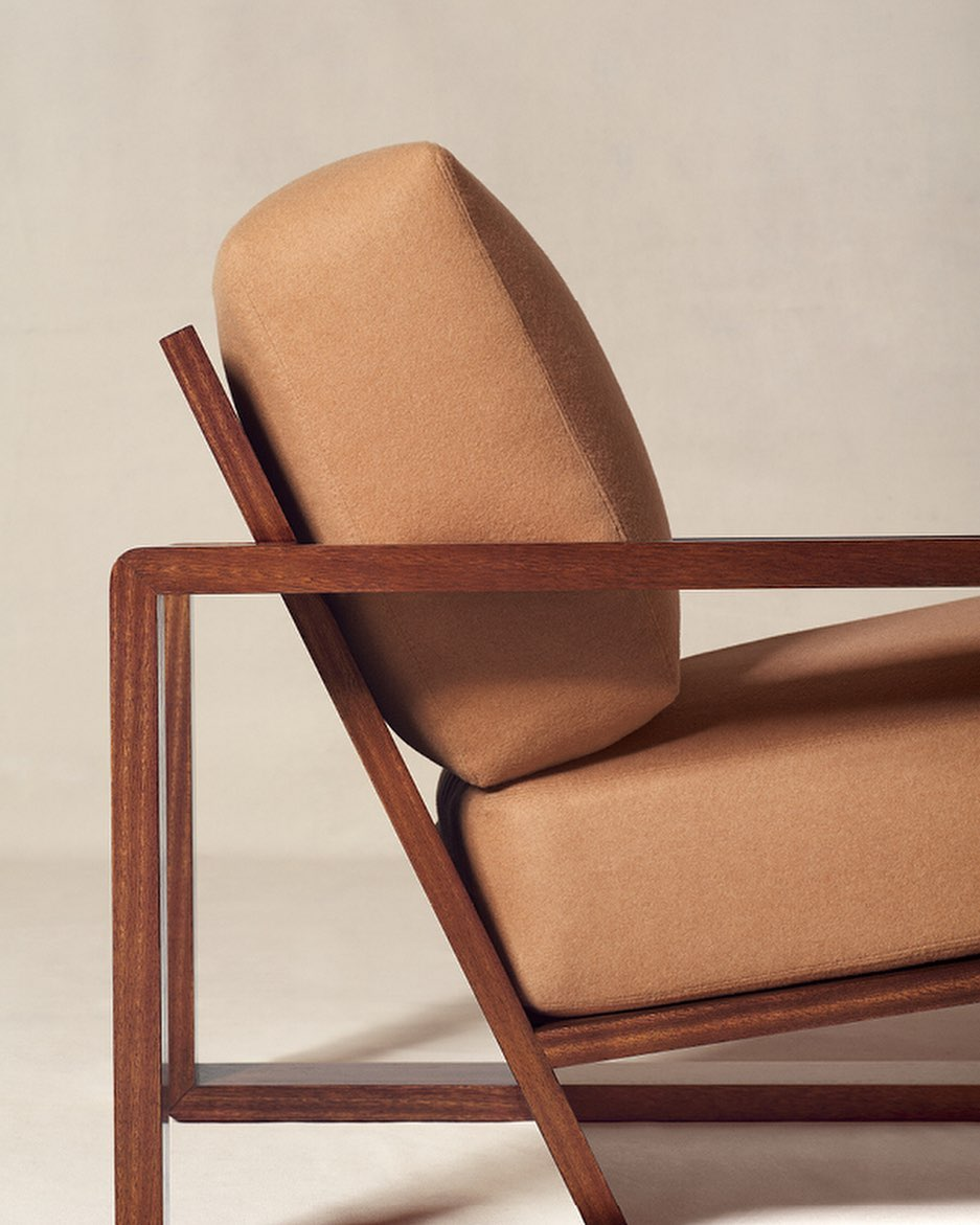 A true statement piece, the RL Lounge Chair features a boldly modern silhouette....