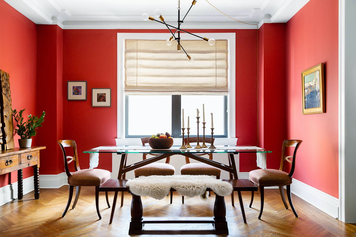 Home Designing 51 Red Dining Rooms, Red Dining Room