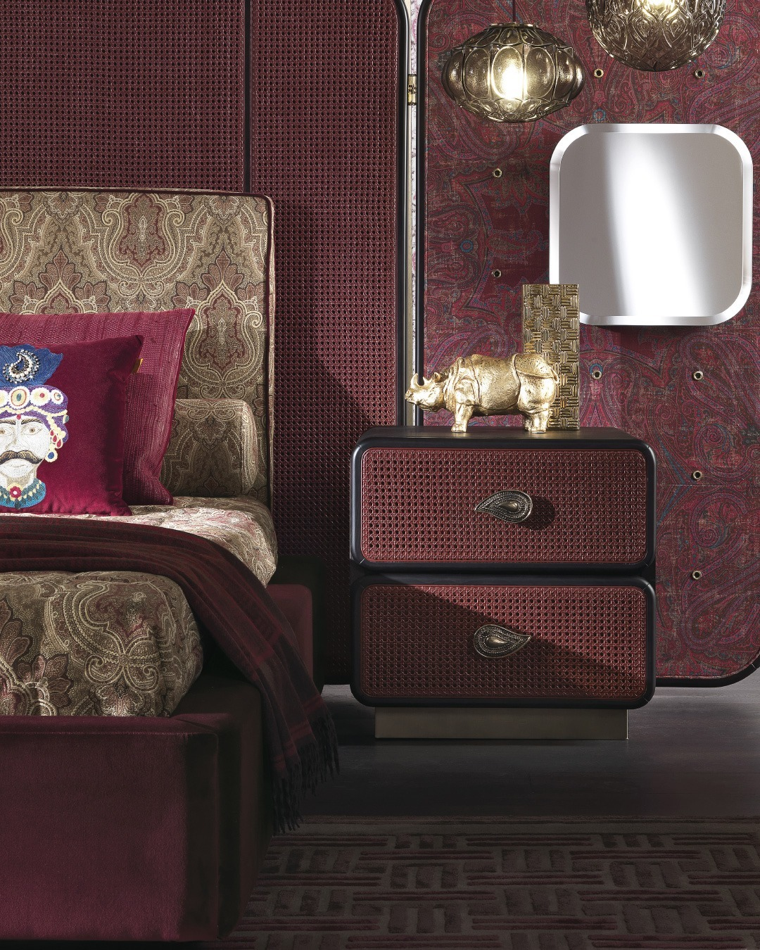 An amazing mix of textures, decorations ...