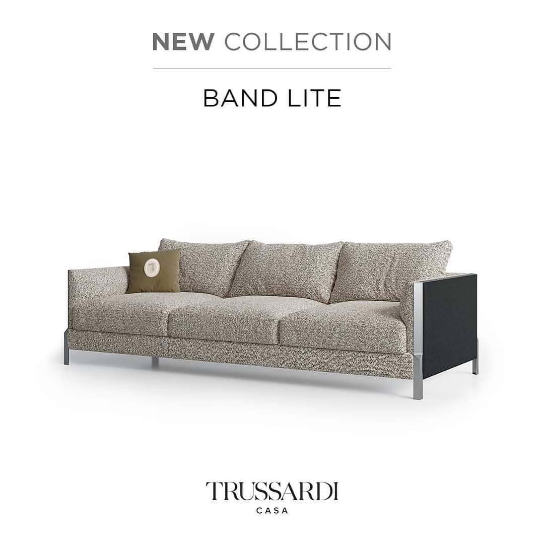 #BandLite sofa, new #TrussardiCasa Colle...