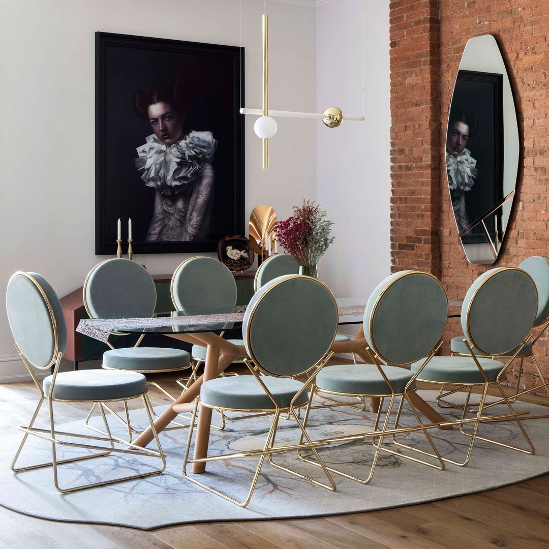 A designer's dining room is always ready...