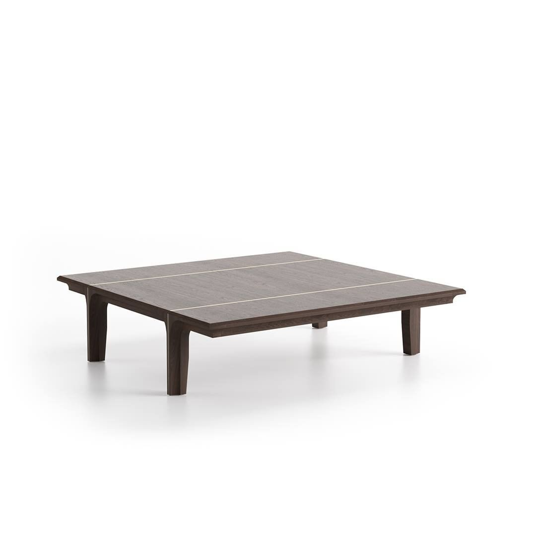 Kendo coffee table, in wood with metal b...