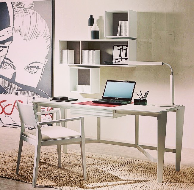 At work! #paciniecappellini #design #mood #desk #office #modern #furniture #besp...