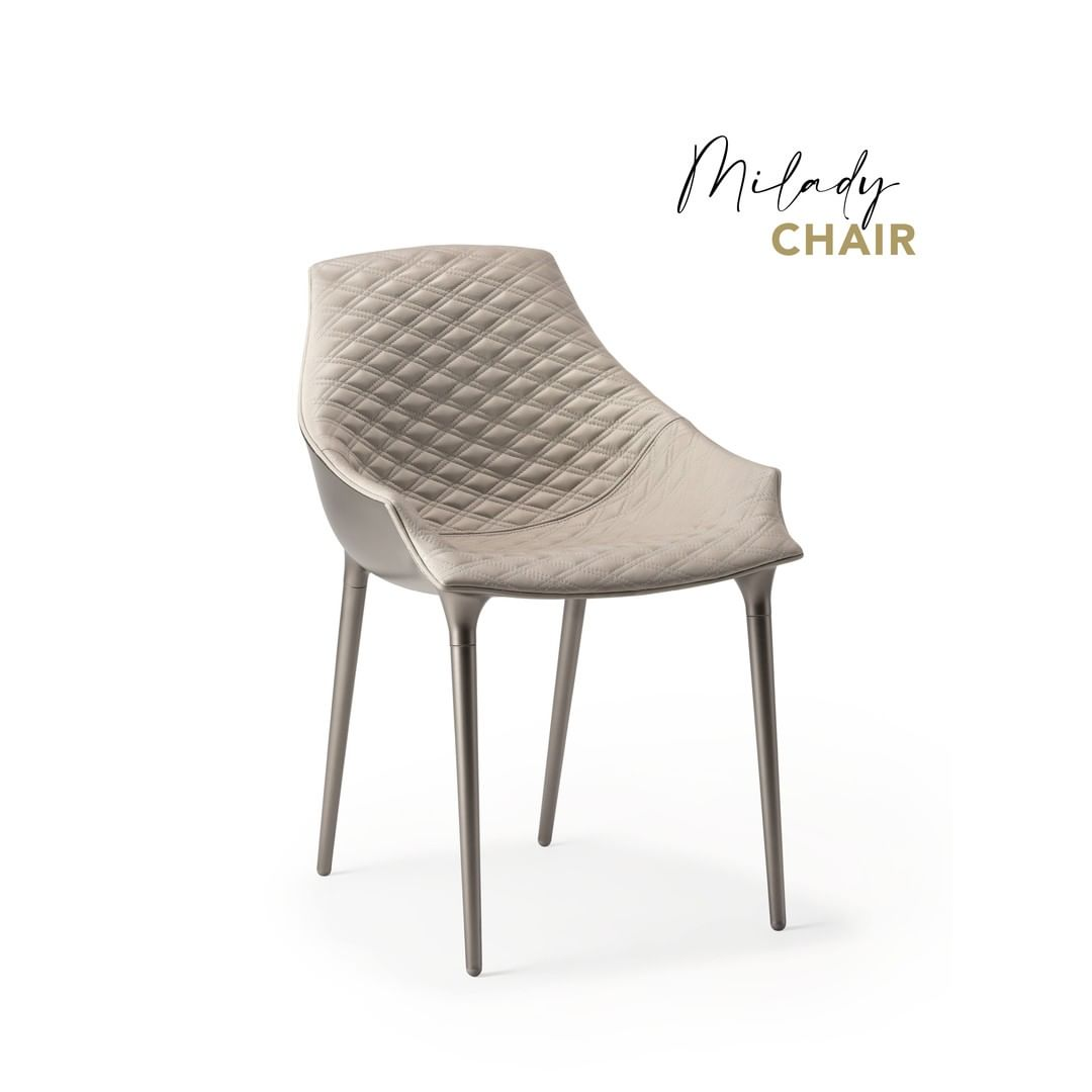 Milady, chair with black or white polypr...