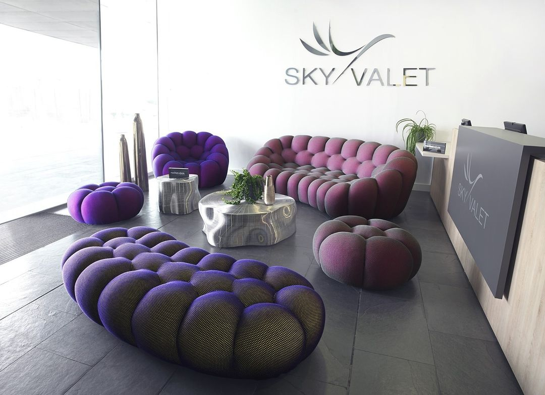 Punchy and purple, the Bubble sofa is th...