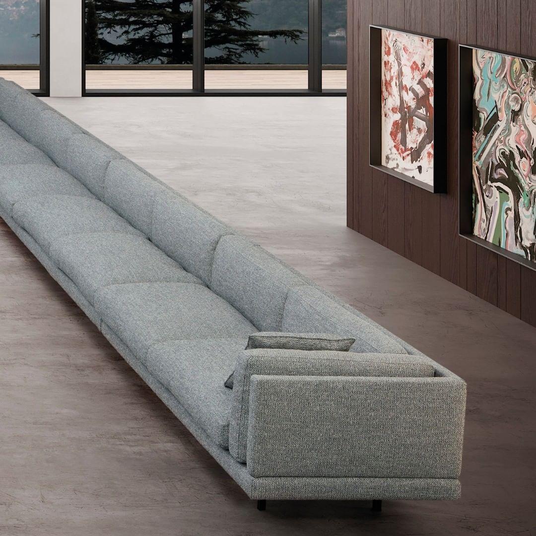 The Galaxy Sofa has a metal frame incorp...