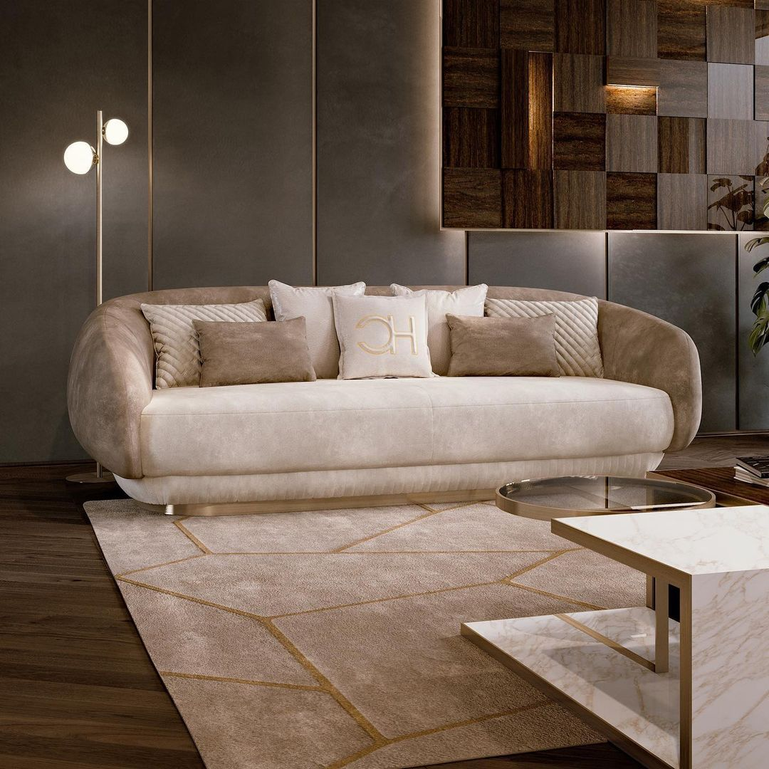 """❖ Our """"MOON"""" sofa hugs you with its soft..."""
