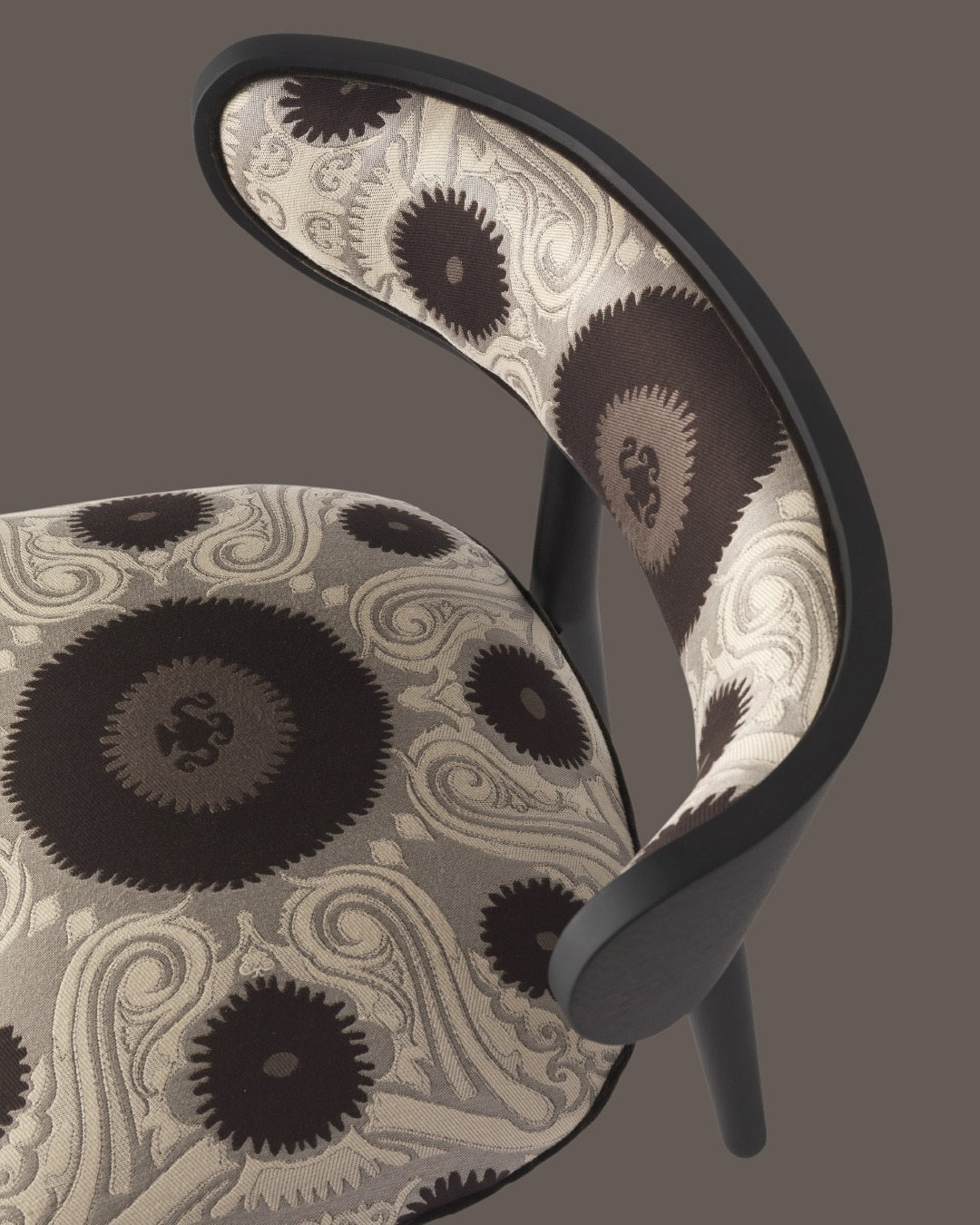 In the Shah armchair, the neutral color ...